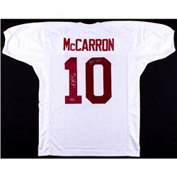 """AJ McCarron Signed Alabama Crimson Tide Jersey Inscribed """"Roll Tide!"""" (Radtke Hologram)"""