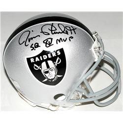 "Jim Plunkett Signed Raiders Mini-Helmet Inscribed ""S.B. XV MVP"" (Radtke COA)"