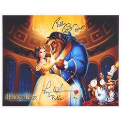 """Paige O'Hara  Robby Benson Signed """"Beauty And The Beast"""" 11x14 Photo (Beckett COA)"""
