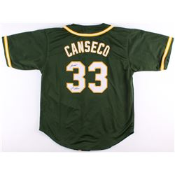 """Jose Canseco Signed Athletics Jersey Inscribed """"Juiced"""" (JSA COA)"""