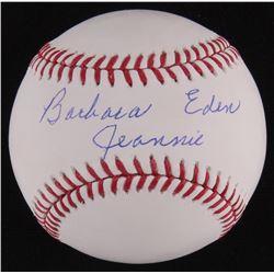 """Barbara Eden Signed OML Baseball Inscribed """"Jeannie"""" (MAB Hologram)"""