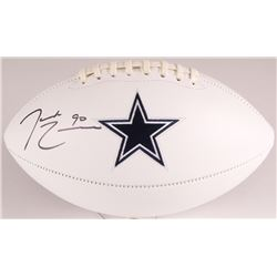 DeMarcus Lawrence Signed Cowboys Logo Football (JSA COA)