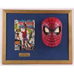 """Stan Lee Signed """"Spider-Man"""" 18x23 Custom Framed Mask Display (PSA COA)"""