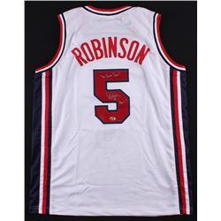 "David Robinson Signed Team USA ""Dream Team"" Jersey Inscribed ""The Dream Team"" (MAB Hologram)"