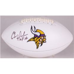 "Chris Doleman Signed Vikings Logo Football Inscribed ""HOF 12"" (Radtke COA)"