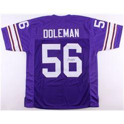 "Chris Doleman Signed Vikings Jersey Inscribed ""HOF 12"" (JSA COA)"
