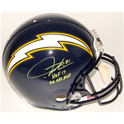 """LaDainian Tomlinson Signed Chargers Full-Size Authentic On-Field Helmet Inscribed """"HOF 17""""  """"06 NFL"""