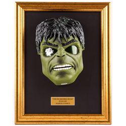 "Stan Lee Signed ""Hulk"" 14.75x18.75 Custom Framed Mask Display (PSA COA)"