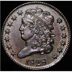 1828 Half Cent Classic Head U.S. Coin