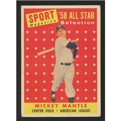 1958 Topps #487 Mickey Mantle AS