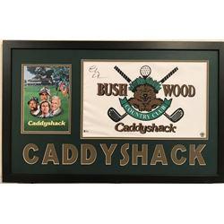 "Chevy Chase Signed ""Caddyshack"" 34"" x 42"" Custom Framed Pin Flag Display (Beckett COA)"