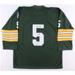 "Paul Hornung Signed Packers Jersey Inscribed ""Hof 86"" (PSA COA)"