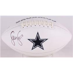 Sean Lee Signed Cowboys Logo Football (JSA COA)