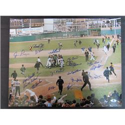 1969 Mets 16x20 Photo Team-Signed by (17) with Duffy Dyer, Wayne Garrett, Jim McAndrew, Ed Charles,