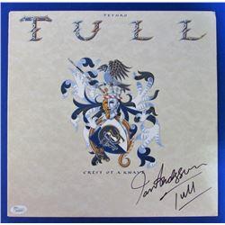 "Ian Anderson Signed ""Crest of Aknavev"" Record Album Inscribed ""Tull"" (JSA Hologram)"