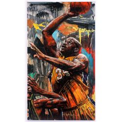 Shaquille O'Neal Signed 24x42 Limited Edition Hand Embellished Giclee on Canvas by Stephen Holland (