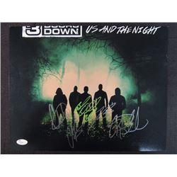 3 Doors Down 11x14 Signed by (5) with Brad Arnold, Chet Roberts, Justin Biltonen, Chris Henderson  G