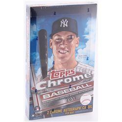 2017 Topps Chrome Baseball Unopened Hobby Box of (24) Packs