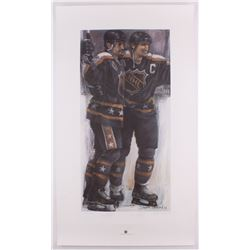 "Wayne Gretzky  Paul Coffey Signed LE 22.75x39.25 ""All Time Scorers"" Holland Printers Proof Lithograp"
