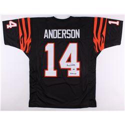 """Ken Anderson Signed Bengals Jersey Inscribed """"81 NFL MVP"""" (Leaf COA)"""