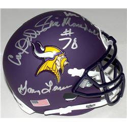 """Vikings """"Purple People Eaters"""" Custom Matte Mini-Helmet Signed by (4) with Alan Page, Carl Eller, Ji"""