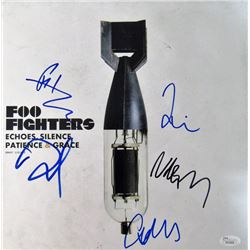 Foo Fighters 12x12 Album Cover Photo Signed by (5) with Dave Grohl, Nate Mendel, Taylor Hawkins, Pat