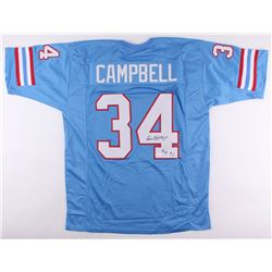 "Earl Campbell Signed Oilers Jersey Inscribed ""HOF 91"" (JSA COA)"