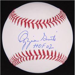 """Ozzie Smith Signed OML Baseball Inscribed """"HOF 02"""" (JSA COA)"""