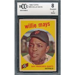 1959 Topps #50 Willie Mays (BCCG 8)