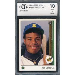 1989 Upper Deck #1 Ken Griffey Jr. RC (BCCG 10)