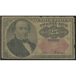 1874 United States 25¢ Twenty-Five Cents Fractional Bank Note