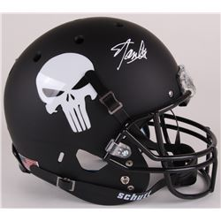 Stan Lee Signed Custom Matte Black  Punisher  Full-Size Helmet (Lee Hologram)