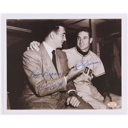 "Bobby Thomson  Ralph Branca Signed 8x10 Photo Inscribed ""The 50th"" (SOP COA)"