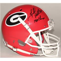 Herschel Walker Signed Georgia Bulldogs Full Size Helmet Inscribed  1980 Champs  (JSA COA)