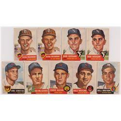 Lot of (9) 1953 Topps Baseball Cards