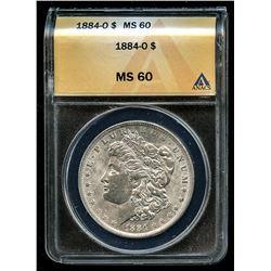 1884-O Morgan Silver Dollar VAM-4 (ANACS MS 60)