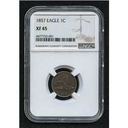1857 Flying Eagle Cent (NGC XF 45)