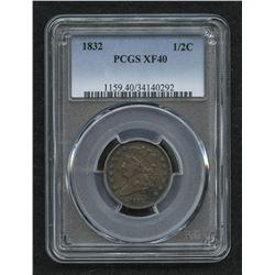 1832 Classic Head Half-Cent (PCGS XF 40)