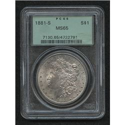 1881-S Morgan Silver Dollar (PCGS MS 65)