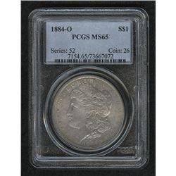 1884-O Morgan Silver Dollar (PCGS MS 65)