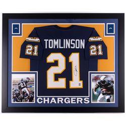"LaDainian Tomlinson Signed Chargers 35"" x 43"" Custom Framed Jersey (JSA COA  GTSM)"