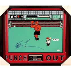 "Mike Tyson Signed ""Punch-Out!!"" 21x25 Custom Framed Shadowbox with Original NES Controller (JSA COA)"
