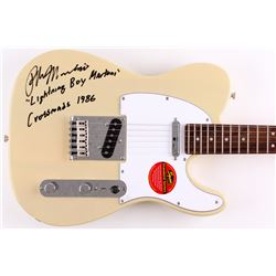 "Ralph Macchio Signed Full-Size Electric Guitar Inscribed ""Lightning Boy Martoni""  ""Crossroads 1986"""