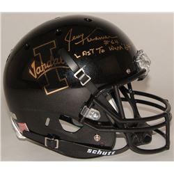 "Jerry Kramer Signed Idaho Vandals Full-Size Helmet Inscribed ""Last To Wear '64'"""" (Radtke COA)"