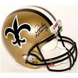 Archie Manning Signed Saints Throwback Full-Size Helmet (Radtke COA)