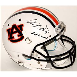 "Chris Davis Jr. Signed Auburn Tigers Full-Size Helmet Inscribed ""Got A Second"" (Radtke COA)"