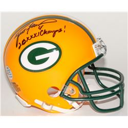 "Brett Favre Signed Packers Mini Helmet Inscribed ""SB XXXI Champs!"" (Favre COA)"
