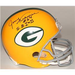 """Jerry Kramer Signed Packers Full-Size Helmet Inscribed """"S.B. I + II"""" (Radtke COA)"""