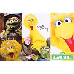 "Caroll Spinney Signed ""Sesame Street"" 11x17 Photo (Legends COA)"