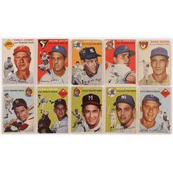 Lot of (10) 1954 Topps Baseball Cards